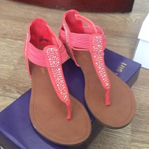 EUC coral sandals